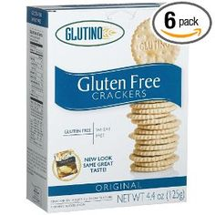 Glutino Gluten Free Crackers - these taste like animal crackers minus the sugar.  really good with hummus :)
