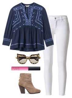 """""""cat eye sunglasses"""" by helenhudson1 ❤ liked on Polyvore featuring Rebecca Taylor, rag & bone, NARS Cosmetics, Anna-Karin Karlsson, women's clothing, women, female, woman, misses and juniors"""