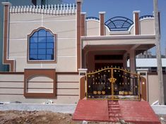 House Front Wall Design, House Outer Design, Single Floor House Design, House Outside Design, Village House Design, Bungalow House Design, Modern House Design, 30x50 House Plans, 3d House Plans