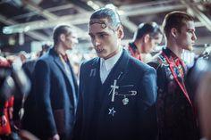 Backstage du défilé Givenchy homme automne-hiver 2015-2016