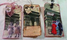 Collage art using napkins