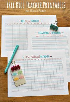 How to Organize Bills {Bill Payment Tracker}