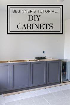 diy kitchen How To: Build Cabinets on the Cheap - A Beginners Tutorial. The easiest DIY cabinets with shaker style design for a modern farmhouse kitchen. Kitchen Ikea, Diy Kitchen Cabinets, Built In Cabinets, New Kitchen, Kitchen Storage, How To Build Cabinets, Building Kitchen Cabinets, Diy Cupboards, Cheap Cabinets