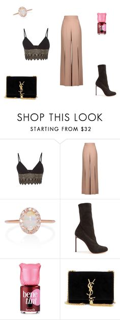 """""""Untitled #12"""" by michelle-notter on Polyvore featuring Sally Lapointe, Cushnie Et Ochs, Marlo Laz, Francesco Russo, Benefit and Yves Saint Laurent"""
