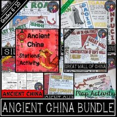 Ancient china map activity pinterest ancient china geography ancient china bundle xia shang zhou qin han dynasties gumiabroncs Gallery