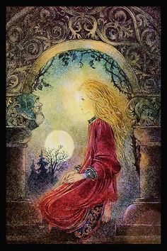 Fairy and fantasy art by Sulamith Wulfing. Links to posters, art prints, books. Nature Spirits, Fairytale Art, Fairy Art, Moon Art, Pics Art, Online Art Gallery, Painting & Drawing, Illustrators, Fantasy Art