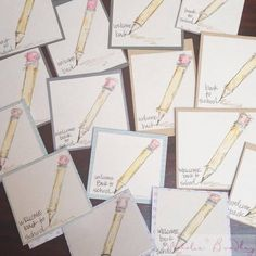 Back to School Cards | Natalie Bradley Artist | Handmade Arts and Crafts