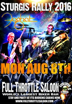 Foghat at Sturgis Rally 2016 Full Throttle Saloon