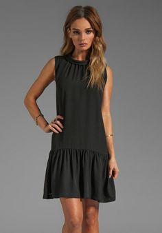 JOIE Matte Silk Renina Dress in Caviar - New