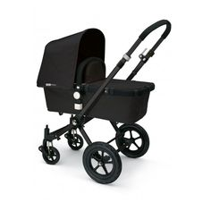 Poussette Bugaboo Cameleon Edition Limitée All Black Chassis Noir et... ❤ liked on Polyvore featuring baby, baby stuff y baby gear
