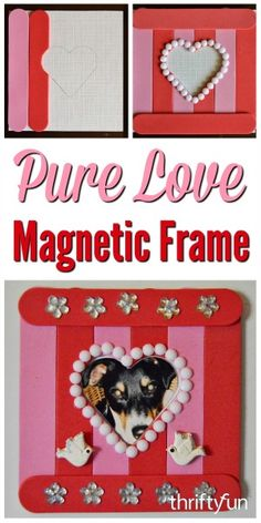 Add a touch of Valentine's Day sentiment to your kitchen or office with this attractive magnetic frames. This is a guide about pure love Valentine's Day magnetic frame.