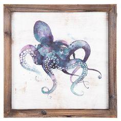 Purple Octopus Wall Art