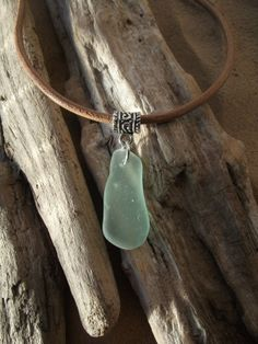 Sea glass jewelry Aqua Sea Glass Necklace by byNaturesDesignCL, £10.00