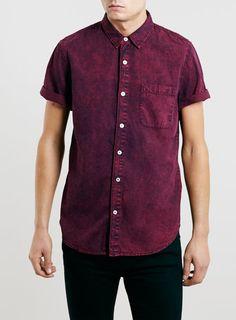 Burgundy Washed Short Sleeve Shirt. | Sooooo expensiveeee  D: