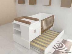 Verwandelbare Babybett K416 - Alondra - YouTube