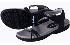 Sandbaggers Sale! Shop now, Galia Black, go to http://www.cutlersports.com/galia-black/ -Plastic Shank for Torsion Control -Built-In StepSaver Orthotics -Thermal Rubber (TR) Grip Sole -Comfort Molded Footbed -Skinny Strap Style with Velcro -Leather Upper, Woven Traps #BasicsofGolf