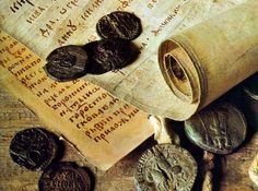 Medieval Parchment and Coins
