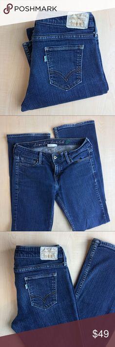 "Levi's Women's Low Boot Cut 545 28 Levi's Skinny Low Boot Cut 545 Denim Jeans Zipper Fly  Material: Denim  4 Medium  •Inseam: 30"" -J- Levi's Jeans Skinny"