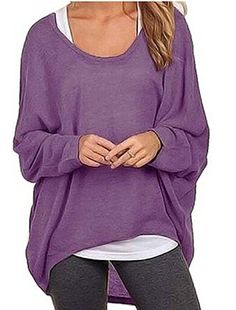 Coming soon Fashion new brand women loose long sleeve casual top Tops Tees  - Long Sleeve