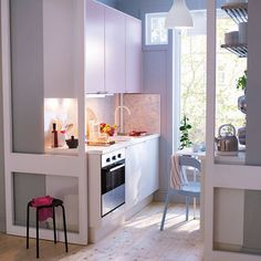 Very pretty!  tiny kitchen