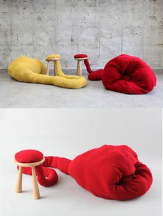 Creative Pet Stool by Eyal Hirsh #cat #red #yellow