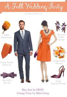 Fall Wedding Style for Bridesmaids and Groomsmen » KnotsVilla