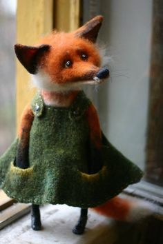 Needle Felting – Needle Felting Tutorials and felt crafts Needle Felted Animals, Felt Animals, Cute Animals, Felt Fox, Wool Felt, Wet Felting, Needle Felting, Felt Fairy, Felt Mouse