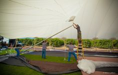 Sneak peak of the inside getting the canopy up for the first time!