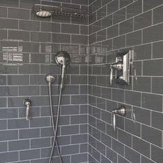 boys bathroom - another option- grey subway tiles for bath