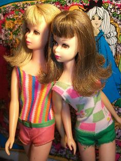 I had these two Francie dolls; my mom liked her better because she had a smaller bust than Barbie ;D
