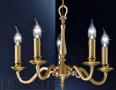 £519.00, The Lupin Traditional #Brass #Chandelier Psl/A991