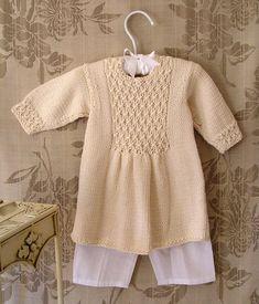 Baby Girls Dress with Smocked Panel Yoke P006 door OgeDesigns
