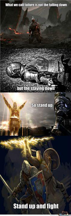 Dark Souls Motivational Quote