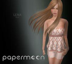 PaperMoon- LENA Strapless Top & Shorts -Peach