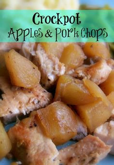 Throw the ingredients in the crockpot and go! Crockpot Apples and Pork Chops Recipe