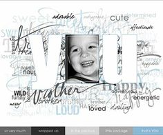Boy Digital Scrapbooking Layouts: Type Background Layout