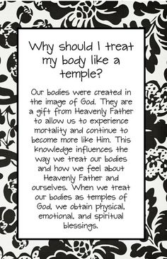 Respect your body. We are God's temple and how we potray our bodies to others around us is a reflection of who we are in Christ our Lord.