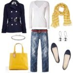 Love that yellow and navy.