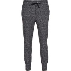 iHEART Alena Anthra Melange Sweat pants with drawstring waist (205 AUD) ❤ liked on Polyvore featuring activewear, activewear pants, pants, bottoms, jeans, calças, pantalones, cotton sweat pants, cotton sweatpants and grey sweatpants