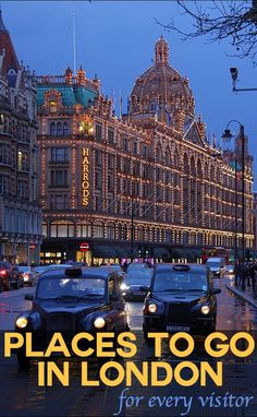 Harrods - on nearly everyone's shopping list of places to go in London.