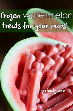 Healthy Dog Treats DIY Frozen Watermelon Dog Treats - It is officially summer and your dog is feeling it ten fold. Make your own pupsicles with this two-ingredient Frozen Watermelon Dog Treat recipe.