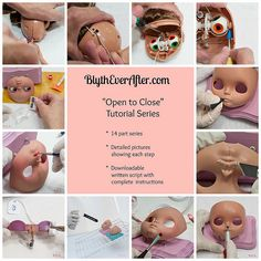 Blythe face up tutorial by Blythe Ever after - DIY Crafts Ooak Dolls, Blythe Dolls, Diy Wings, Doll Tutorial, Little Doll, Doll Repaint, Monster High Dolls, Doll Face, Doll Eyes