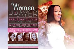 Women of Prayer Flyer Template by SeraphimChris on @creativemarket