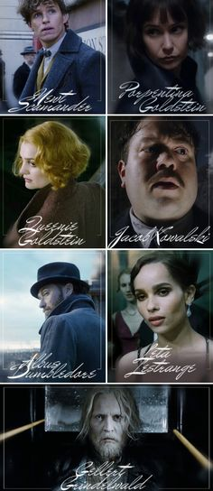Fantastic Beasts: The Crimes of Grindelwald - characters