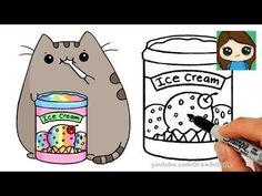 How to Draw Cute Girl in Unicorn Onesie step by step Easy - YouTube #pusheencatsdiy