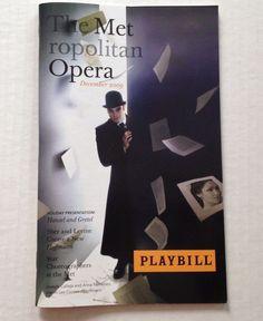 2009 2010 MET Metropolitan Opera Playbill December Les Contes d'Hoffmann Book
