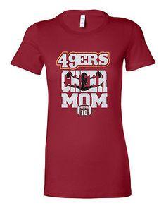 SAN FRANCISCO 49ers Football #10 Shiny Glitter Ladies Favorite TShirt - Bella