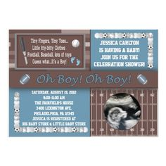 Sports Baby Shower Invitations