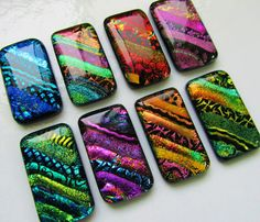 I adore dichroic glass!  Stunning!