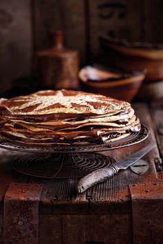 Die dekadente pannekoek-koek is vir spesiale geleenthede, want die mousse en vla maak dit te ryk vir elke dag eet.